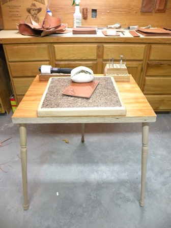 Camp Leather Tooling Table