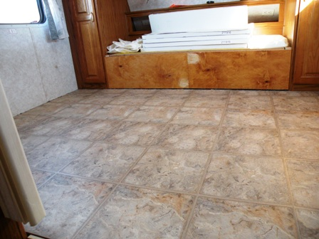 Allure flooring in a Fifth Wheel RV