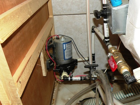 failed rv water pump BAD location