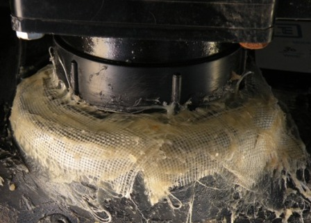 fiberglass cloth applied to RV Tank Repair