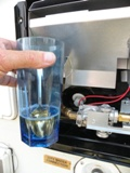 Gas leak test fluid