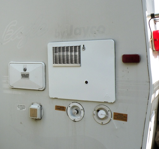 Atwood RV water heater Installed