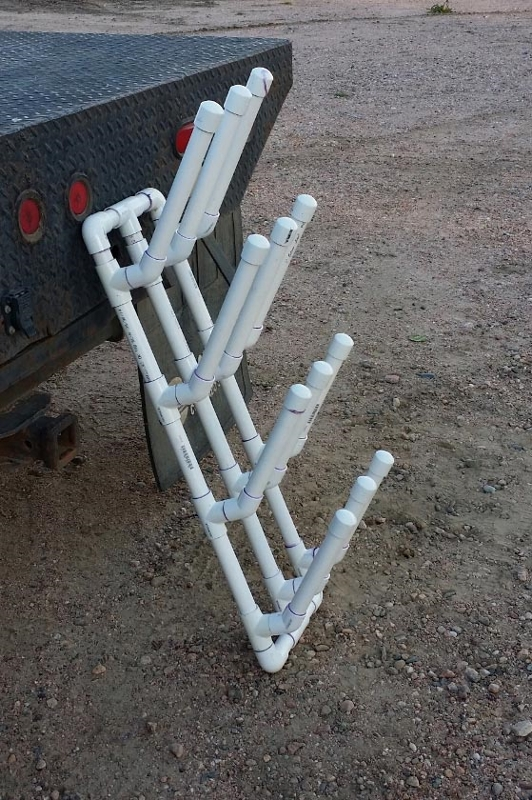 PVC Riding Boot Rack