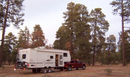 Camp at Heber Arizona