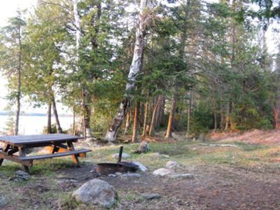lake shore campsite