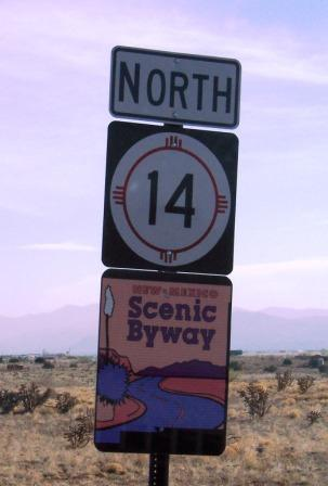 NM Highway 14 sign