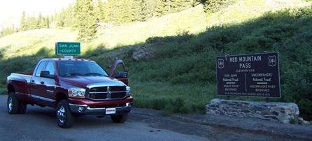 Dodge Cummins on Red Mountain Pass