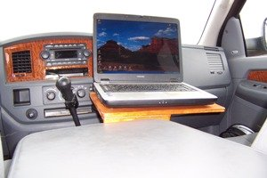 in cab computer console in use