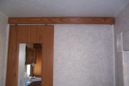 RV sliding door track