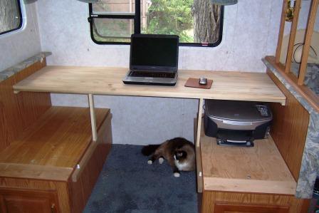 RV Desk Top Remodel
