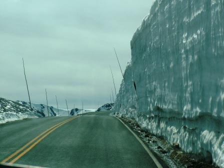 Wall of Snow in Rocky Mountain National Park