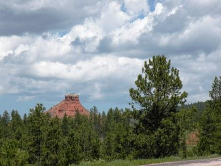 A Red Butte near Newcastle Wyoming