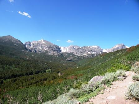 along the Bierstadt Lake Trail in Rocky Mountain National Park
