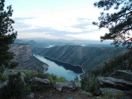 Flaming Gorge winding off into the distance