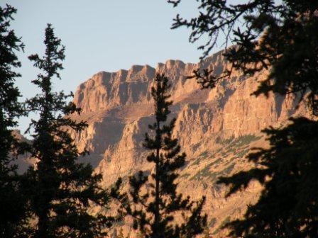 High Peaks in the Uintas at Sunset