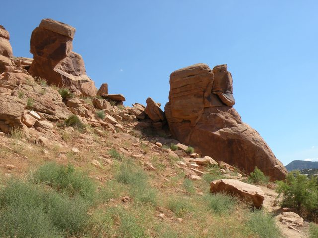 Pictograph Rocks in Dinosaur National Monument