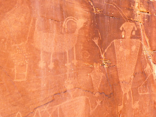 Pictographs at Dinosaur National Monument