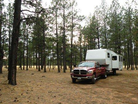 RV Boondocking camp off Hwy 180 north of Flagstaff