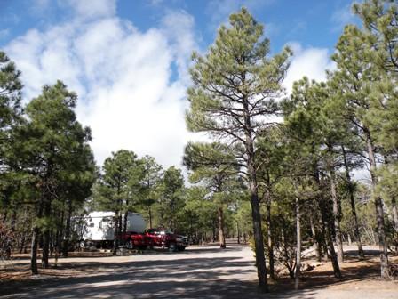 Manzano Mtns state park camp