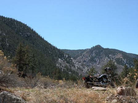 Yamaha Motorcycle Touring the Poudre River