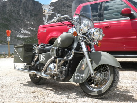 Custom U.S. Army Kawasaki Motorcycle