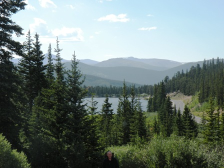 view from table at Echo Lake Lodge Mt. Evans Colorado