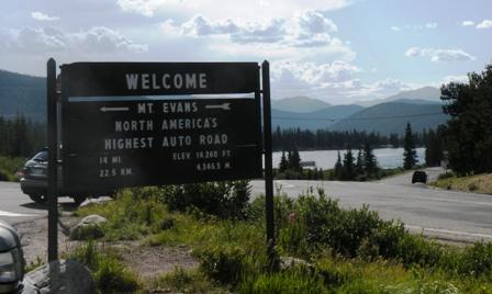 Mt Evans road americas highest auto road
