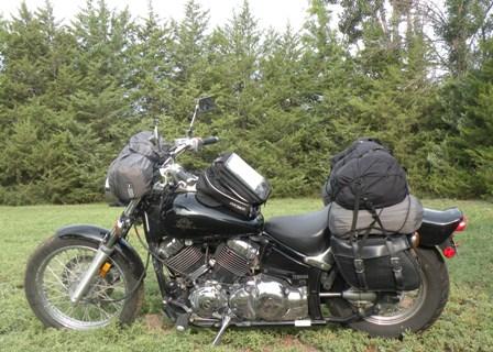 Yamaha 650 V Star  Loaded for Silverton Trip