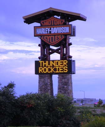 Thunder in the Rockies Marque Sign
