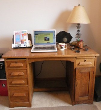 antique desk to be used in our RV Remodel