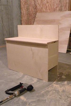 RV Storage Stair under construction