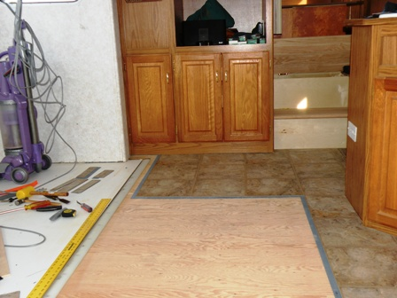 an rv flooring replacement using alluretraffic master