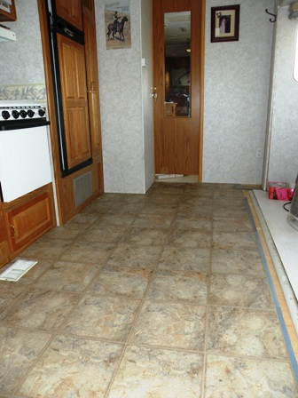 allure vinyl flooring in an RV