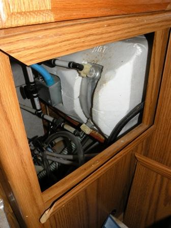RV Pump and Water heater compartment access
