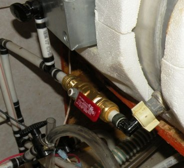 RV Water Valve replaced with a good brass valve