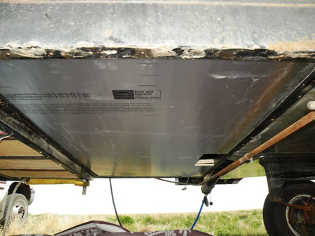 RV Belly insulation replacement