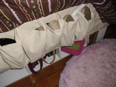 shoe bags installed