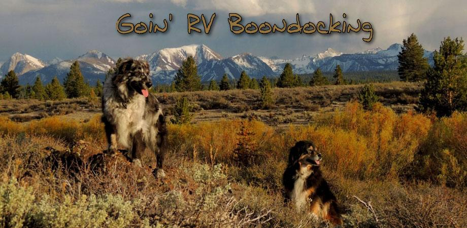 goin' RV Boondocking
